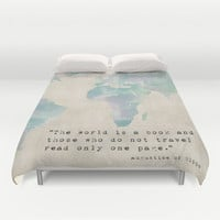 The World is a Book Duvet Cover by Mockingbird Avenue