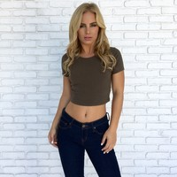 Forrester Crop Top In Olive