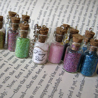 Fairy Dust 1ml Glass Vial Bottle Pendant Necklace by RedQueenMisc