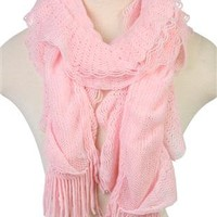 ruffled ombre scarf with fringe - debshops.com