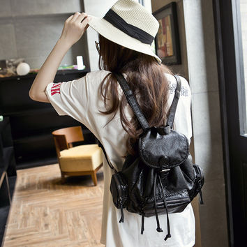 Stylish College Back To School On Sale Comfort Casual Hot Deal Rinsed Denim Backpack [8226382791]