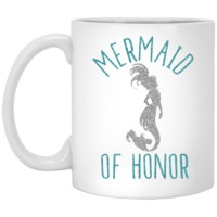 Mermaid Of Honor 11 oz. White Mug