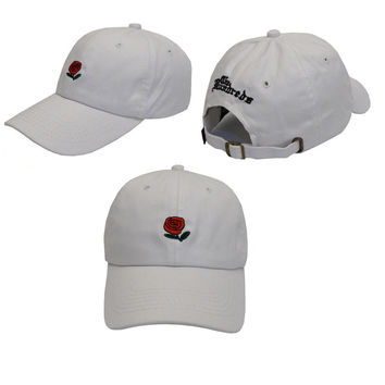 White The Hundreds Rose Strap Cap Adjustable Golf Snapback Baseball Hat