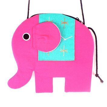 Elephant Shaped Animal Shoulder Bag in Bright Pink | DOTOLY