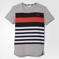 adidas July Stripe Tee - Grey | adidas US
