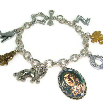OOAK Wizard Of Oz Inspired Scarecrow Picture Charm Bracelet