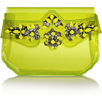 Shourouk | Crystal-embellished PVC clutch | NET-A-PORTER.COM