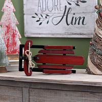 Small Red Vintage Sled