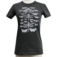 Insect Collection Womens T-Shirt - Winged Insect Collection Print on a American Apparel Ladies Shirt - (Available in sizes S, M, L, XL)