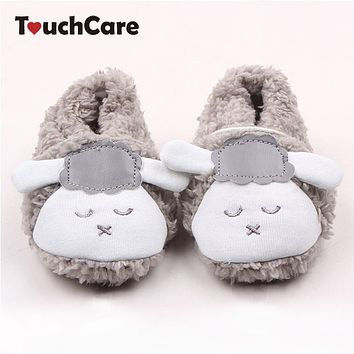 Newborn Winter Warm Cotton Baby Boys Girls First Walkers Infant Cute Sheep Soft Plush Baby Shoes Slipper Crib Shoes