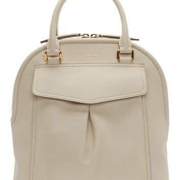 Burberry Prorsum Off-white Pebbled Leather Medium Bowling Bag