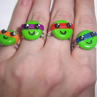 Teenage Mutant Ninja Turtles Rings from Mizziexoxo Boutique