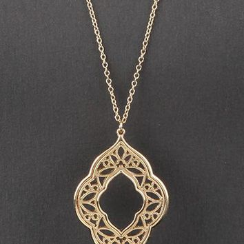 Gold Filigree Necklace