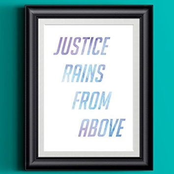 Watercolor Overwatch Pharah Justice Rains From Above Art Print | 8 x 10 | Wall Decor