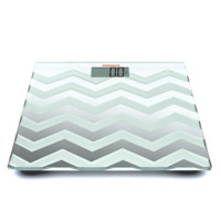 Chevron Pattern Glass Top Digital Scale