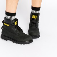 Caterpillar Colorado Black Leather Ankle Boots