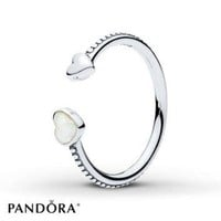 ONETOW PANDORA Ring Hearts of Love Sterling Silver