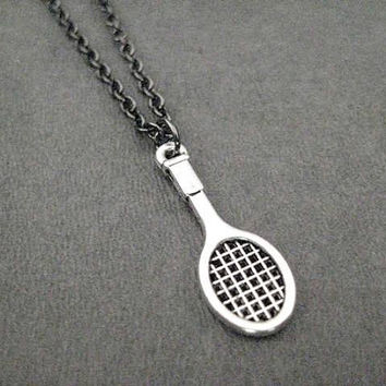 SPORT Necklace - Sport Charm - Gunmetal or Stainless Ball Chain - Football - Tennis - Soccer - Gym - Ski - Dive - Swim - Run - Dance - Music