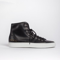 Common Projects - Tournament High In Leather- Black at Gargyle