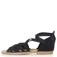 FREYA Lace-Up Sandals - Black