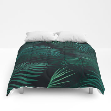Palm leaves Comforters by printapix
