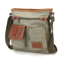 Men's Canvas Leisure Outdoor Crossbody Bag