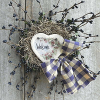 Welcome Berry Wreath Salt Dough Ornament