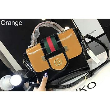GUCCI 2018 spring and summer new women's new single shoulder chain bag F-AGG-CZDL Orange
