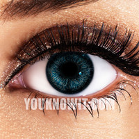 Aqua Funky Eyes Contact Lenses (Pair)
