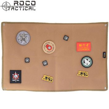 ROCOTACTICAL Military Patch Holder Board Army ID Holder Panel Pacth Badges Folding Mat for Morale Patches Black Coyote Brown
