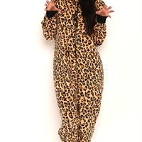 Leopard Print Onesuit with Ears