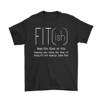 ICIK6Q Love Food Fit ish Definition Shirts