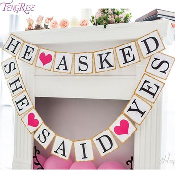 Just Married Paper Banner
