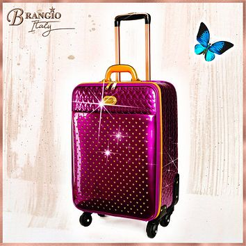 Starz Art Retro Light Weight Spinner Luggage for the American Tourister