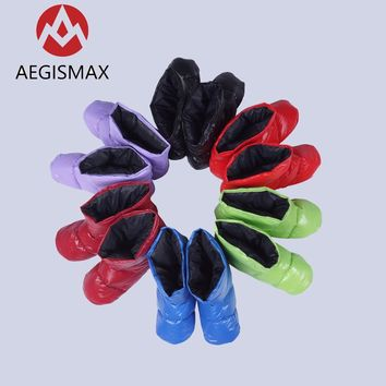 AEGISMAX Portable Down Slippers Camping Sleeping Outdoor Soft Sock Boot Unisex Warm Socks For Cold Weather Freezing Conditions
