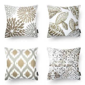 Set of 4 Coffee Color Throw Pillow Case for Couch Decor | Overstock.com Shopping - The Best Deals on Throw Pillows