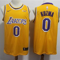 Men's Los Angeles Lakers Kyle Kuzma Nike Gold Swingman Jersey – Icon Edition - Best Deal Online