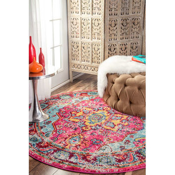 Bungalow Rose Loughlam Pink Area Rug & Reviews | Wayfair