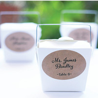 Kraft Wedding Escort or Place Card Labels, Placement Seating Cards, Oval Rustic Wedding Favor Tag, Placecards