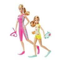 Amazon.com: Barbie Sisters Snorkel Fun Barbie and Stacie Doll 2-Pack: Toys & Games