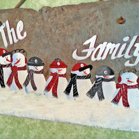 Ohio State team family snowman sign, custom personalize