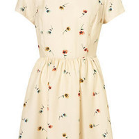 Pansy Print Collar Dress - Dresses - Clothing - Topshop