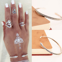 Punk wind exaggerated personality Metal snake bracelets