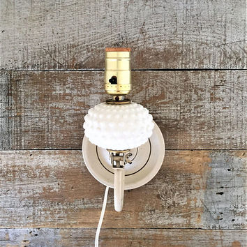 Wall Lamp Milk Glass Wall Light Milk Glass Sconce Table Lamp Cottage Chic Lamp Vintage Wall Light Fixture Bedroom Light Farmhouse Chic Lamp