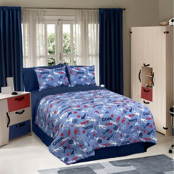 Veratex Soccer Locker Comforter Set (Blue)
