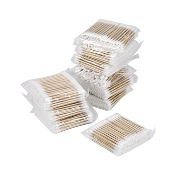 Disposable Makeup Cotton Swabs Eyelash Extension Mini Individual Applicators Home Mascara Brush Cotton Soft Swab Stick