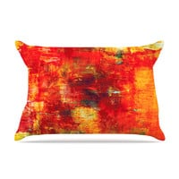 "Ebi Emporium ""Autumn Harvest"" Red Orange Pillow Sham"