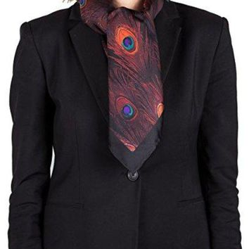Givenchy Women's Peacock Feather Pattern Silk Scarf - Beauty Ticks