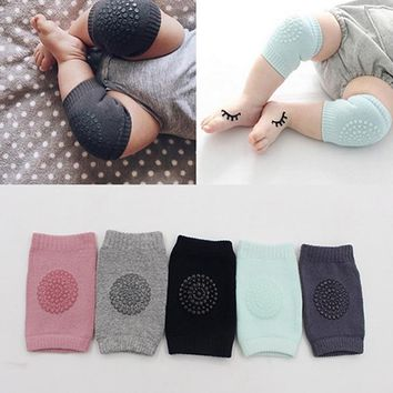 1 Pair Infant Toddler Knee Pads Anti Slip Crawling Safety Leg Warmers Crawling Accessory Baby Knees thick Protector ping
