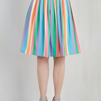 Vintage Inspired Mid-length A-line Aspiration Creation Skirt
